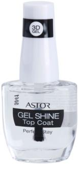 Astor Perfect Stay 3D Gel Shine zaščitni  nadlak za nohte s sijajem