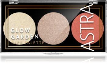 Astra Make-up Palette Glow Garden paleta osvetljevalcev