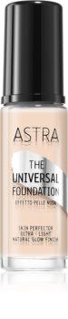 Astra Make-up Universal Foundation lahki tekoči puder s posvetlitvenim učinkom