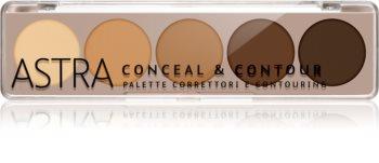 Astra Make-up Palette Conceal & Contour paleta korektorjev