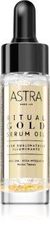 Astra Make-up Ritual Gold Serum Oil rozjasňující podkladová báze pod make-up s 24karátovým zlatem