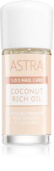 Astra Make-up S.O.S Nail Care Coconut Rich Oil ulei de nuca de cocos pentru unghii și cuticule