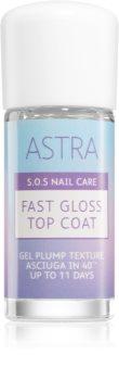 Astra Make-up S.O.S Nail Care Fast Gloss Top Coat τοπ βερνίκι νυχιών για τέλεια προστασία και έντονη λάμψη