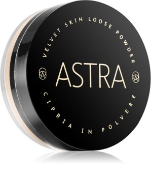 Astra Make-up Velvet Skin posvetlitveni puder v prahu za žameten videz kože