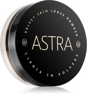 Astra Make-up Velvet Skin Uppljusande löst puder för sammetsmjukt avslut