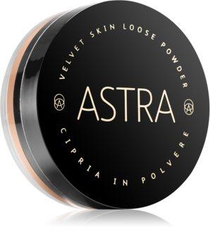 Astra Make-up Velvet Skin stralucire, pulbere vrac pentru o nota de catifea pentru piele