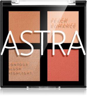 Astra Make-up Romance Palette μικρή παλέτα περιγράμματος Για το πρόσωπο