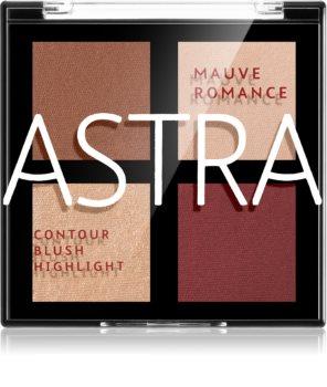 Astra Make-up Romance Palette Patela pentru conturul fetei facial