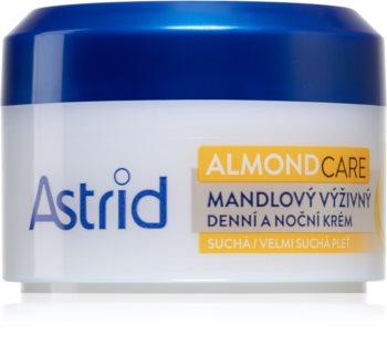 Astrid Nutri Skin crème nourrissante aux amandes pour peaux sèches à très sèches