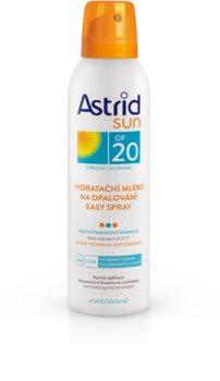 Astrid Sun увлажняющее молочко для загара в виде спрея