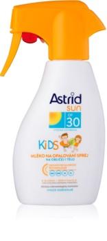 Astrid Sun Kids слънцезащитно масло за деца в спрей SPF 30