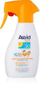 Astrid Sun Kids losjon za sončenje v pršilu za otroke SPF 30