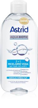 Astrid Aqua Biotic agua micelar 3 en 1 para pieles normales y mixtas