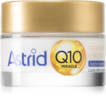 Astrid Q10 Miracle crema de noche antienvejecimiento de acción completa con coenzima Q10