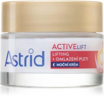 Astrid Active Lift noćna lifting krema s učinkom pomlađivanja