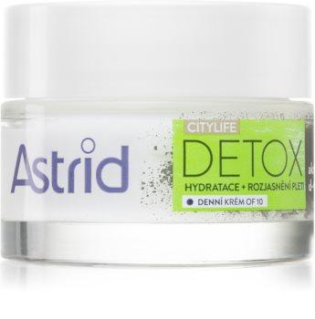 Astrid CITYLIFE Detox nawilżający krem na dzień z aktywnym węglem
