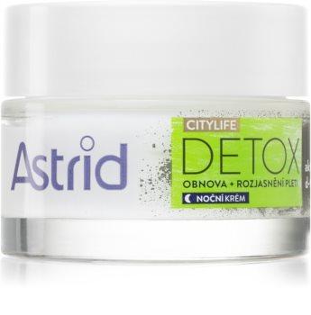 Astrid CITYLIFE Detox noční obnovující krém s aktivním uhlím