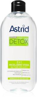 Astrid CITYLIFE Detox міцелярна вода 3 в 1 для нормальної та жирної шкіри