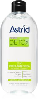 Astrid CITYLIFE Detox agua micelar 3 en 1 para pieles normales y grasas