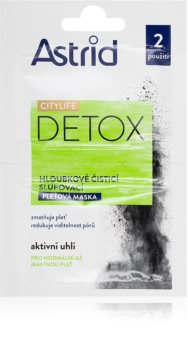 Astrid CITYLIFE Detox masca cu cărbune activ
