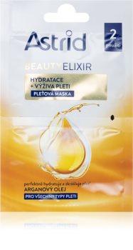 Astrid Beauty Elixir feuchtigkeitsspendende und nährende Gesichtsmaske mit Arganöl