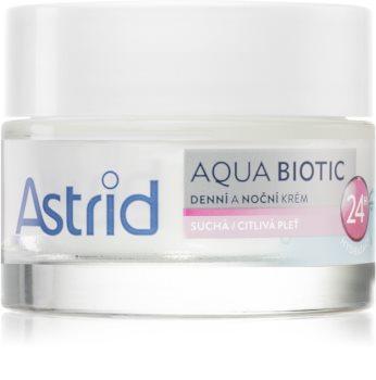 Astrid Aqua Biotic crema de día y noche para pieles secas y sensibles