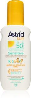Astrid Sun Sensitive mleczko do opalania dla dzieci w sprayu