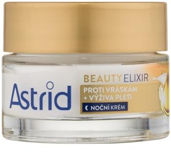 Astrid Beauty Elixir crema de noche nutritiva  antiarrugas