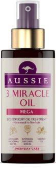 Aussie Mega óleo para cabelos normais a finos
