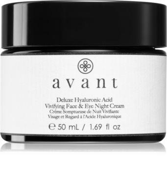 Avant Age Nutri-Revive Deluxe Hyaluronic Acid Vivifying Face & Eye Night Cream hidratáló éjszakai krém a ráncok ellen az arcra és a szemekre