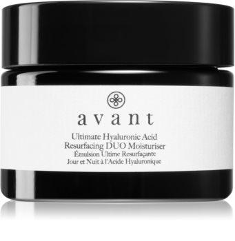 Avant Age Defy+ Ultimate Hyaluronic Acid Resurfacing DUO Moisturiser hidratáló és puhító krém ránctalanító hatással