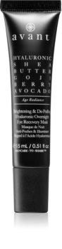 Avant Age Radiance Brightening & De-Puffing Hyaluronic Overnight Eye Recovery Mask szemmaszk a duzzanat és sötét karikák ellen éjszakára