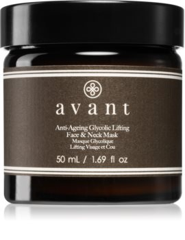 Avant Age Defy+ Anti-Ageing Glycolic Lifting Face & Neck Mask Intensive Lifting Mask for Face and Neck