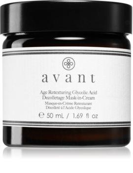 Avant Age Defy+ Age Retexturing Glycolic Acid Mask-in-Cream кремовая маска для области шеи и декольте