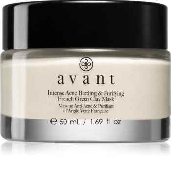 Avant Acne Defence Intense Acne Battling & Purifying French Green Clay Mask Cleansing Clay Face Mask Against Imperfections Acne Prone Skin