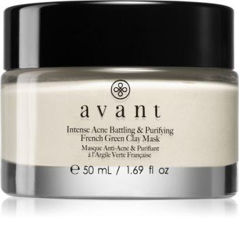 Avant Acne Defence Intense Acne Battling & Purifying French Green Clay Mask tisztító agyagos arcmaszk a pattanásos bőr hibáira
