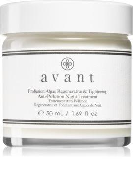 Avant Age Protect & UV Profusion Algae Regenerative & Tightening Anti-Pollution Night Treatment crema regeneradora de noche con efecto lifting