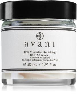 Avant Age Restore Rose & Squalane Revitalising Duo Moisturiser crème régénératrice nourrissante aux extraits de rose