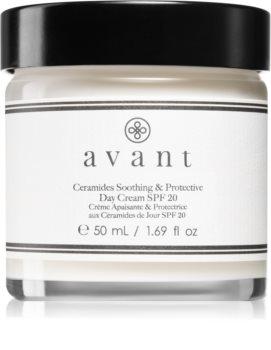 Avant Age Protect & UV Ceramides Soothing & Protective Day Cream SPF 20 crema de día calmante  SPF 20