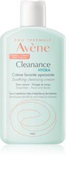 Avène Cleanance Hydra crema limpiadora con efecto calmante  para pieles resecas e irritadas debido a un tratamiento de acné