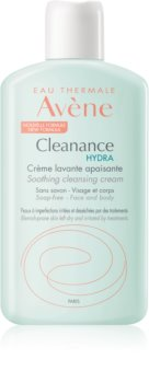 Avène Cleanance Hydra upokojujúci čistiaci krém pre pleť vysušenú a podráždenú liečbou akné