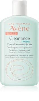 Avène Cleanance Hydra успокояващ почистващ крем за кожа, която е суха и раздразнена от медикаментозно лечение на акне