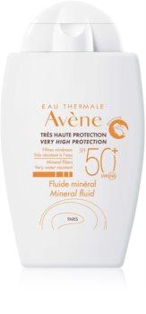 Avène Sun Minéral fluid protector fără filtre chimice SPF 50+