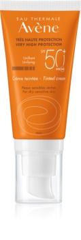 Avène Sun Sensitive тонуючий захисний крем для сухої та чутливої шкіри SPF 50+