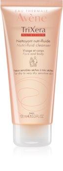 Avène TriXera Nutrition čistilni gel za obraz in telo