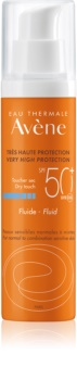 Avène Sun Sensitive védő folyadék normáltól kevert bőrre SPF 50+