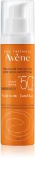 Avène Sun Sensitive Farvet og beskyttende væske til normal og kombineret hud SPF 50+