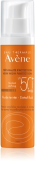 Avène Sun Sensitive Tinted Protective Fluid for Normal to Combination Skin SPF 50+