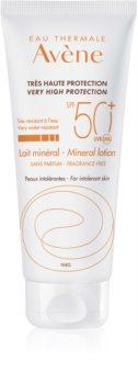 Avène Sun Minéral védő tej kémiai szűrő és parfüm mentes SPF 50+