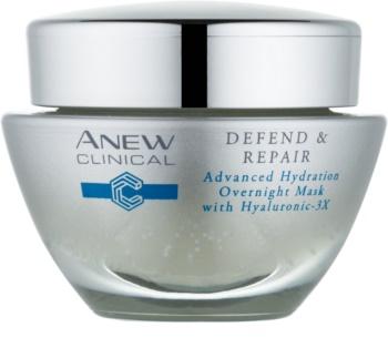 Avon Anew Clinical nawilżająca maseczka na noc o działaniu regenerującym